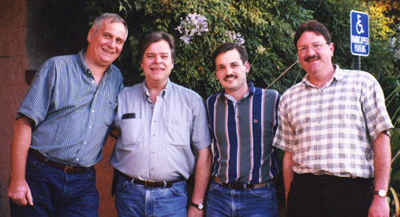 Ingo Stein, Warren Pischke, Doug Mitchell and Ken Conlin